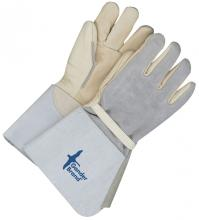 Grey 18 Length Bob Dale 64-1-66 Premium Pearl Split Leather Waist Apron 18 Length